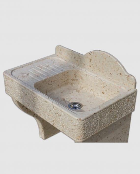 lavandino in pietra gocciolatoio piedi basi appoggio particolare