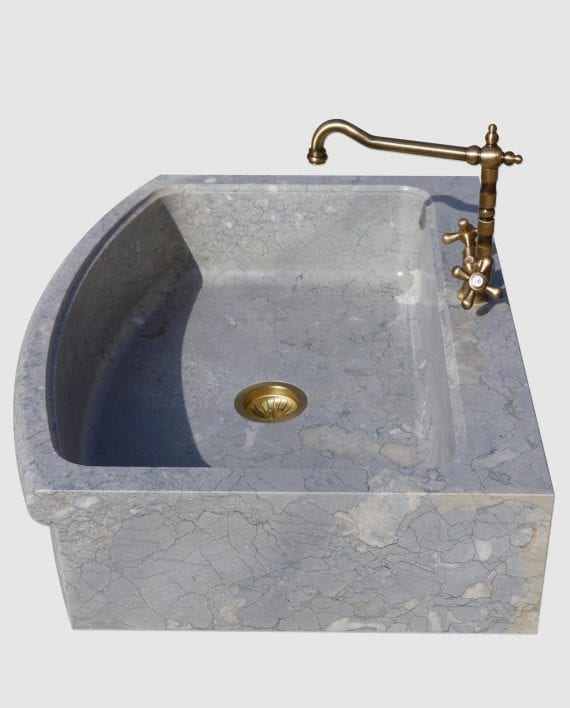 lavello pietra blue perlage drepanon mini laterale