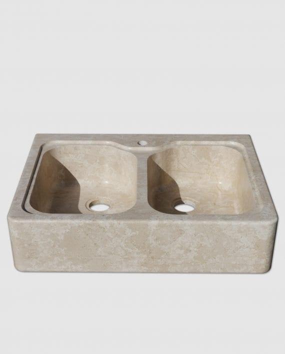 lavello pietra daino fiocco di neve beige