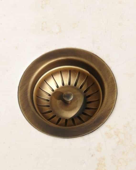 piletta basket pilettone ottone anticato brunito bronzo cucina scarico lavello