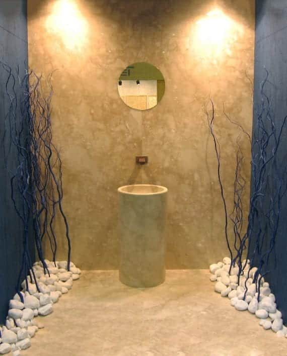 раковина ванной комнаты дизайн мраморная автономная ako