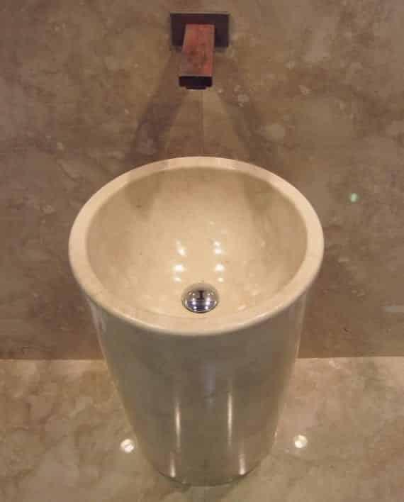 умывальник дизайн ванной комнаты мрамор отдельная деталь ako