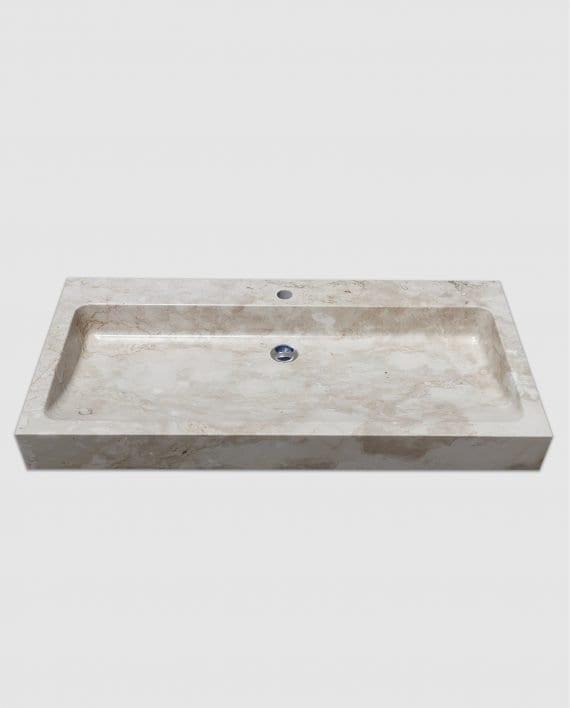 lavabo appoggio bagno marmo rettangolare