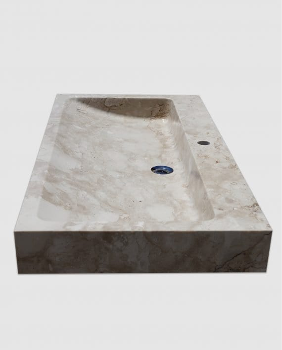 lavabo appoggio bagno marmo rettangolare lato