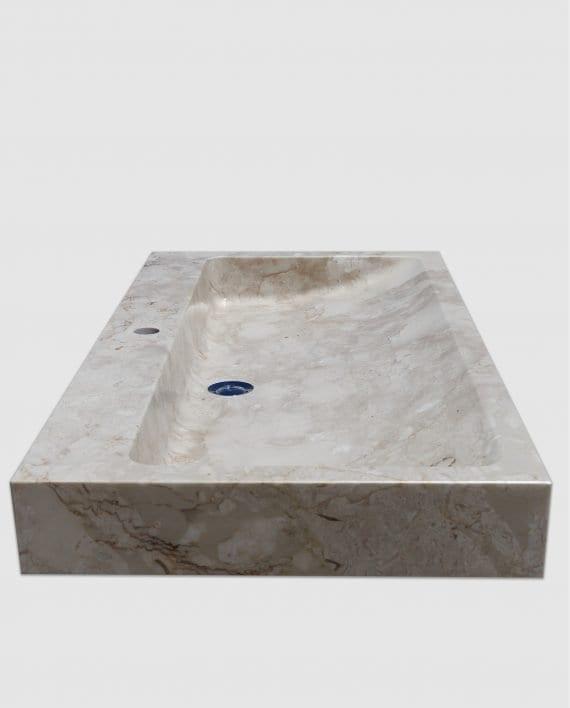 lavabo appoggio bagno marmo rettangolare lato sinistro