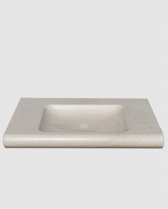 lavabo bagno marmo avorio segesta incasso muro
