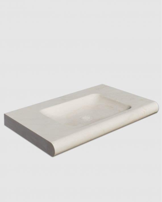lavabo bagno marmo avorio segesta incasso muro laterale