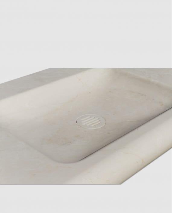 lavabo bagno marmo avorio segesta incasso muro particolare vasca