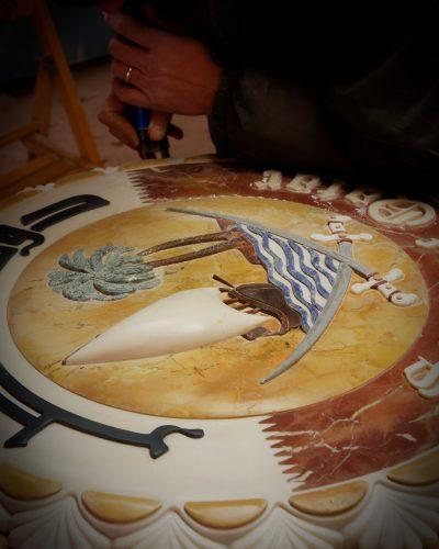 lavorazione-stemma-del-qatar