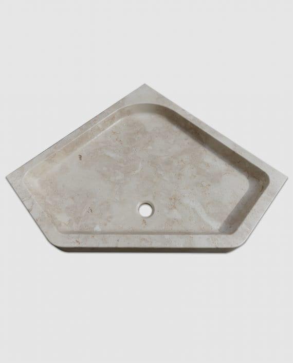corner marble shower tray