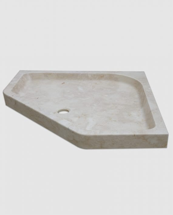 diamante marble corner shower tray