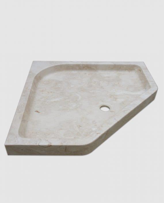 diamond marble corner shower tray right side