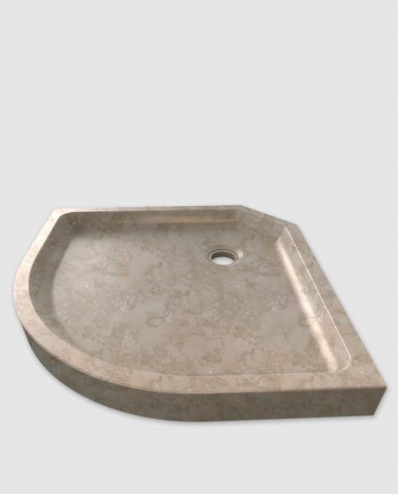 Duschwanne aus Cappuccino-Marmor