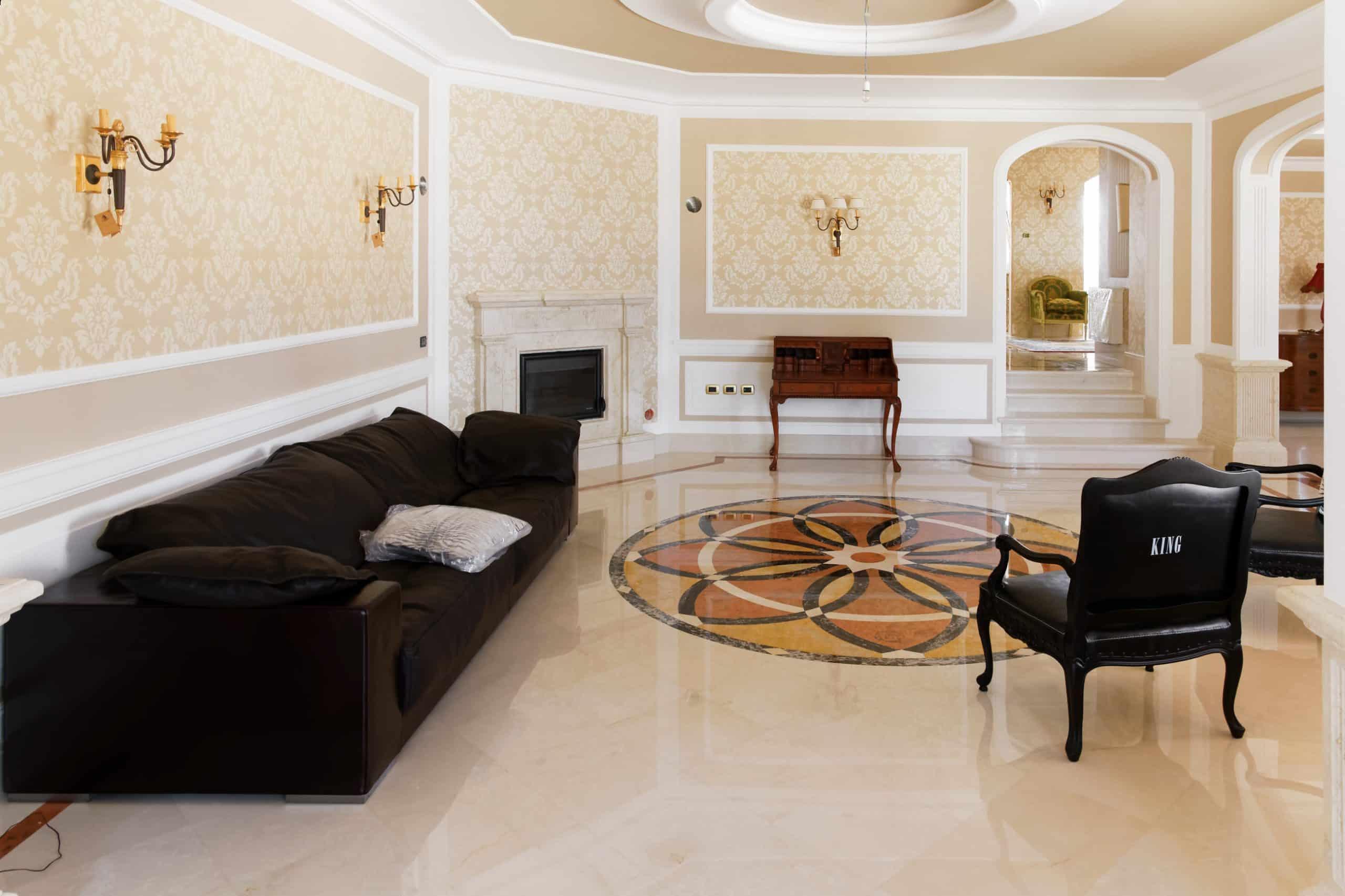 villa pavimento marmo intarsio carpet avorio 4 scaled