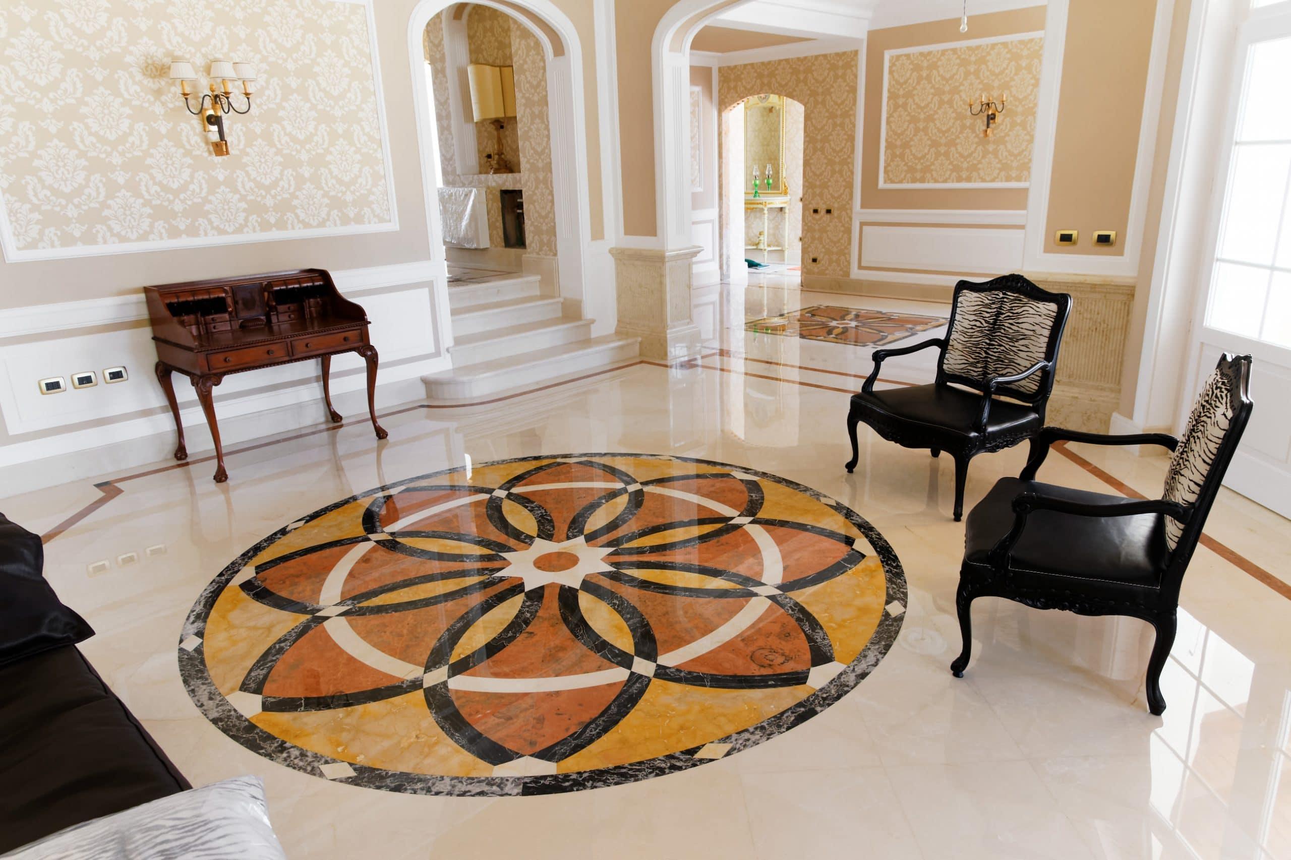 villa pavimento marmo intarsio carpet avorio 5 scaled